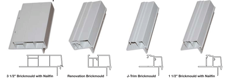 Brickmould Options for Windows